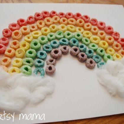 Fruit Loop Rainbow: 17 St. Patrick's Day Crafts for Kids