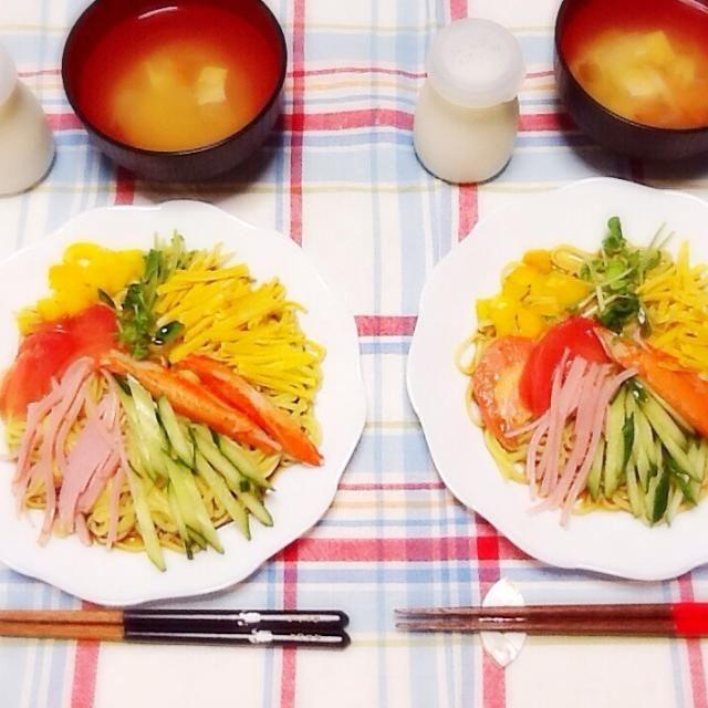 今日は冷やし中華ヾ(。・ω・。) - 55件のもぐもぐ - 晩ご飯♡꒰*・ω・人・ω・*꒱♡ by lilianhuang