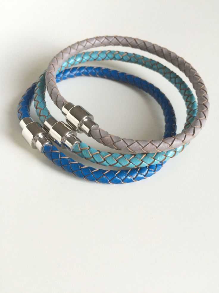 My latest braided leather bracelets have just been listed! These colours are spectacular together or