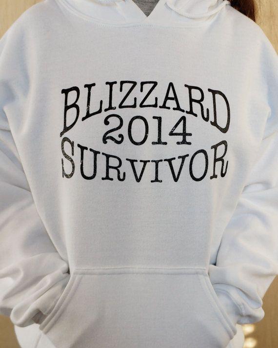 Blizzard Survivor 2014 Hoodie Fleece Fun Hoodie by SunAndAsphalt, $39.99