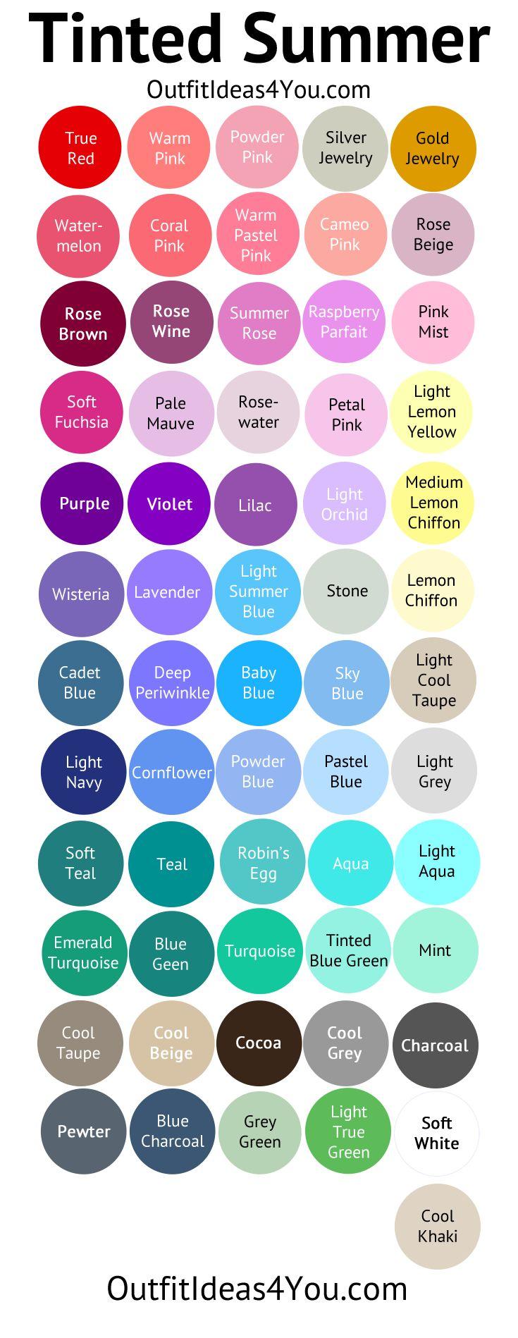 tinted summer color palette light summer light summer color palette seasonal color analysis