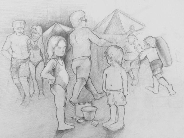Plajda çocuklar. İmgesel çalışma