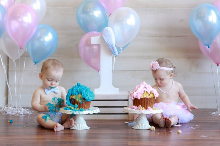 Twins Smash Cake Photos