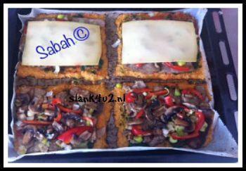 Basis: Bloemkool pizza - Slank4u2