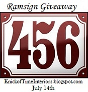Knick of Time: BLOGIVERSARY Ramsign GIVEAWAY