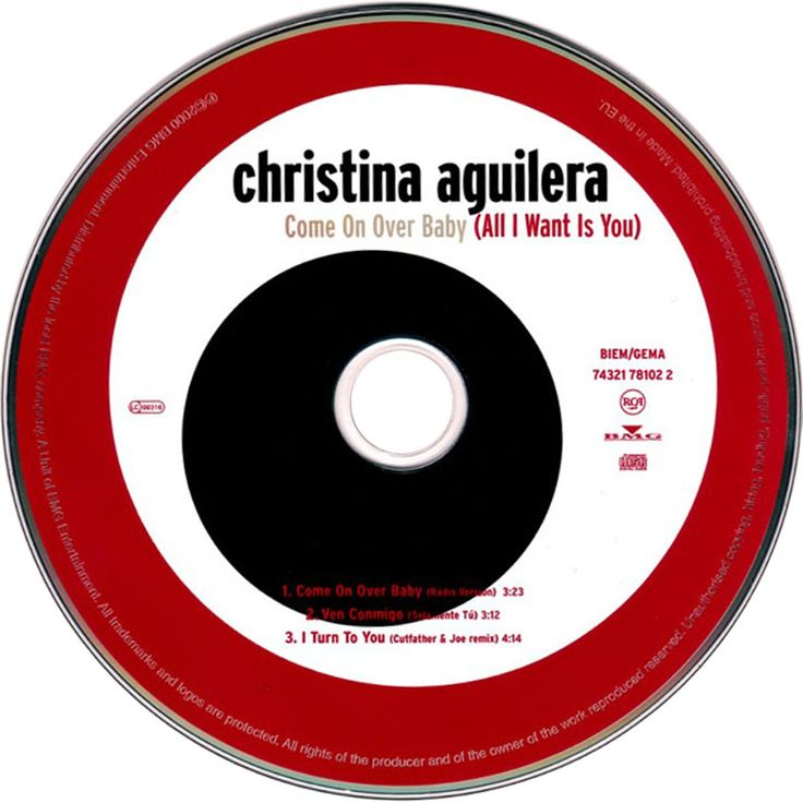 Caratula Cd de Christina Aguilera - Come On Over Baby (All I Want Is You) (Cd Single)