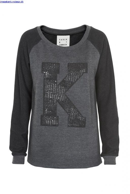 Karen By Simonsen Fey Sweatshirt Anthrasite  - Bluser/Strik - MaMilla