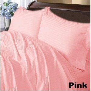 100% Egyptian cotton Luxurious Duvet Cover, King (Stripe) (Pink, 600 TC) by pearlbedding. $81.99. Available in numerous sizes and a range of fashionable colors.. Extra smooth and soft velour.. Experience true luxury when you sleep on these Eqyptian cotton sheets.. Extra Comfortable and most Contemporary Duvet set.. Excellent value for money.. This is one Duvet cover only.. Brand New and Factory Sealed. No Ironing Necessary.. Machine wash and tumble dry for easy care.. Supe...