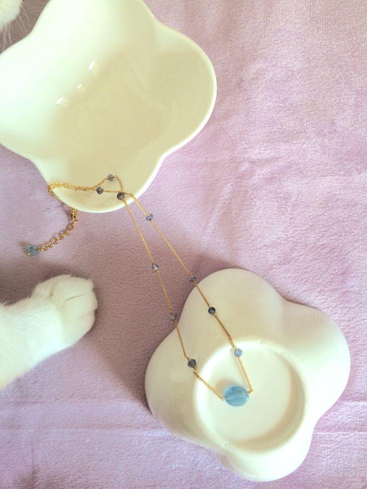 Kyanite * Iolite necklace _ by So.