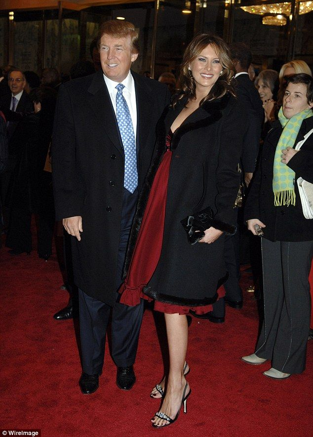 Donald Trump told Howard Stern in December 2005 that his pregnant wife Melania had 'become a monster' and was 'like a blimp'. Both are pictured during her pregnancy in late 2005