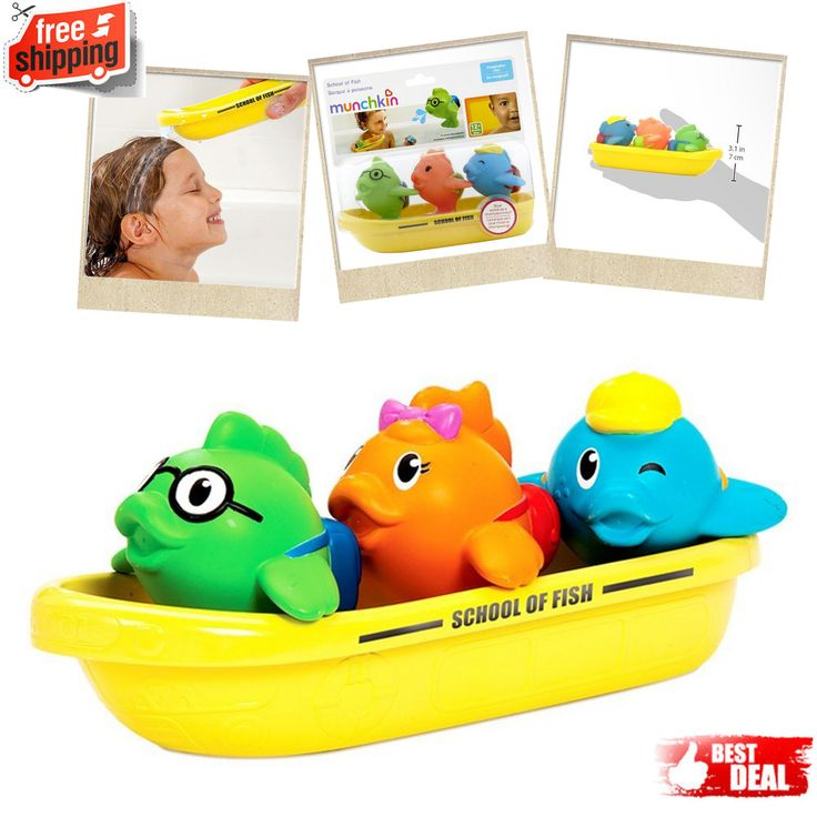 Baby Bath Tub Toys Kids Fun Munchkin School of Fish Boat Play Float Bathroom New