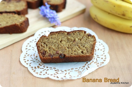 Banana Bread-no egg or butter (just because I have overripe bananas and am out of eggs)