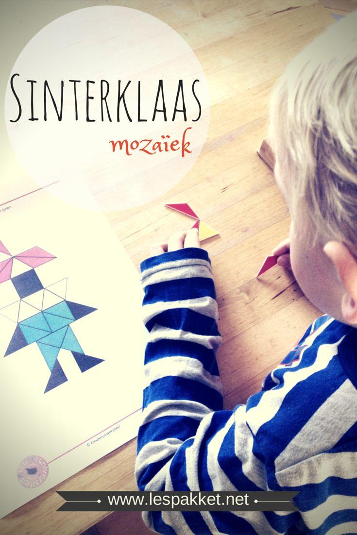 Sinterklaas mozaïek - gratis voorbeeld op het linkfeestje - Juf Bianca