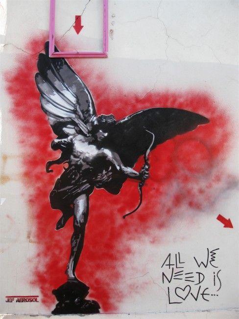 Street Art Par Jef Aerosol - Bagnolet (France)
