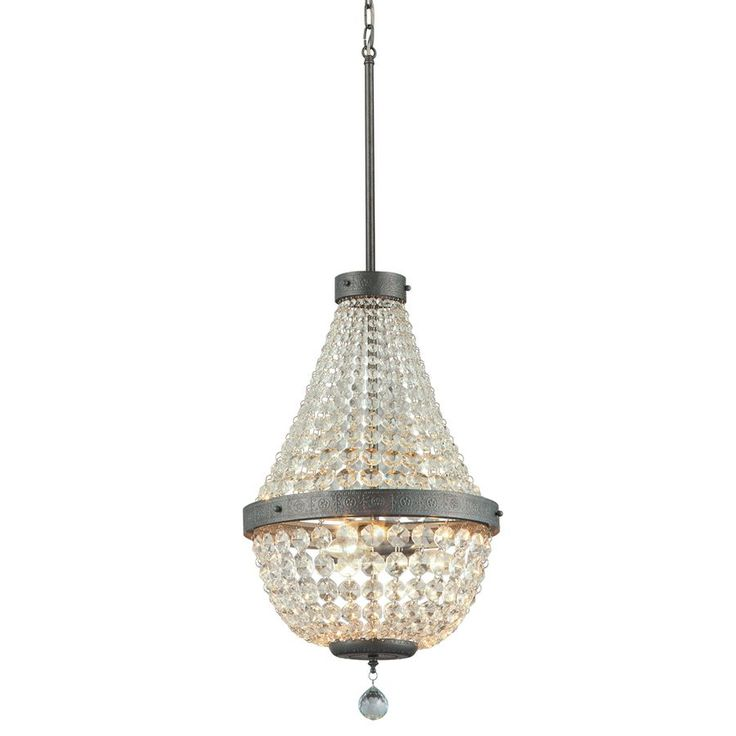 143 best lowes images on pinterest allen roth bass and dining chair portfolio breely antique silver crystal crystal empire chandelier at lowes illuminate your home in style with this chandelier from the breely collection aloadofball Images