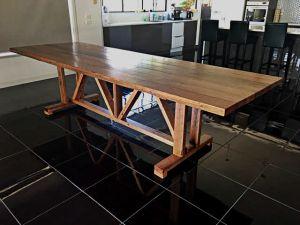 Recycled Victorian Ash Hardwood Barn / Farmhouse Style Table.