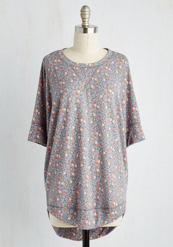 Best of Botanical Floral Top in Slate, @ModCloth