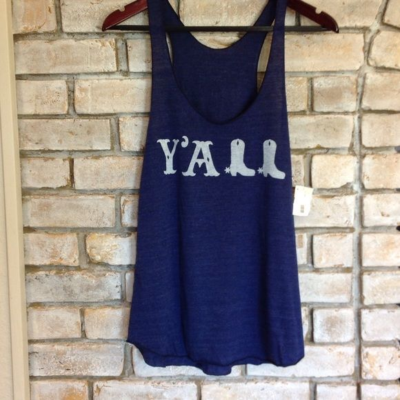 """NWT """"Y'ALL"""" tank. Brand new tank. By Judith March Judith March Tops Tank Tops"""