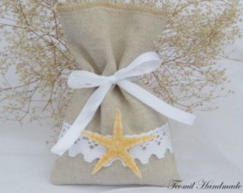 Starfish Wedding Gift Bag borsa da spiaggia spiaggia di Teomil