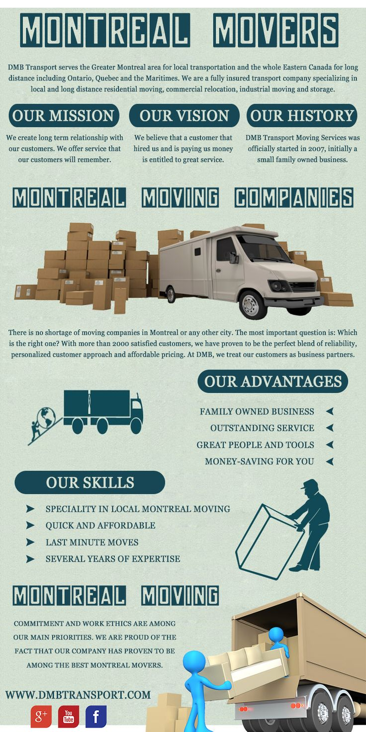 Try this site http://dmbmoving.com/fr/ for more information on Montreal moving.