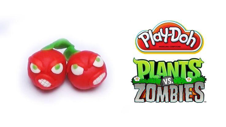 Play-Doh Plants vs Zombies Garden Warfare Cherry Bomb from Plants vs Zom...