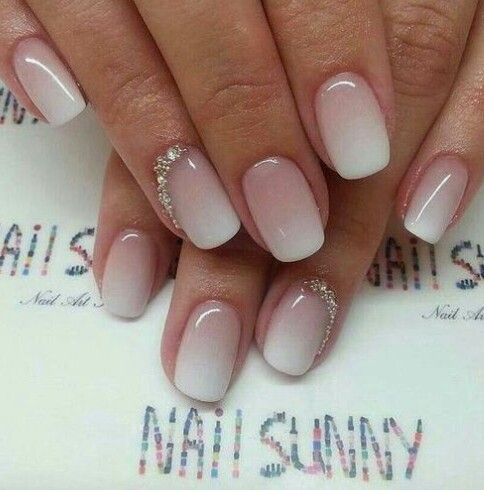 Gradient American Manicure Nail Design, Nail Art, Nail Salon, Irvine, Newport Beach