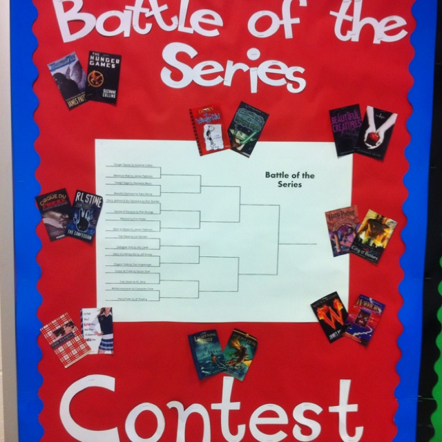 Series bracket, could do school wide for I love to read month?