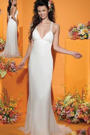 grande immagine 1 Abito da Sposa moda Tubino alta vita/cintola Schiena Nuda Formale E Informale