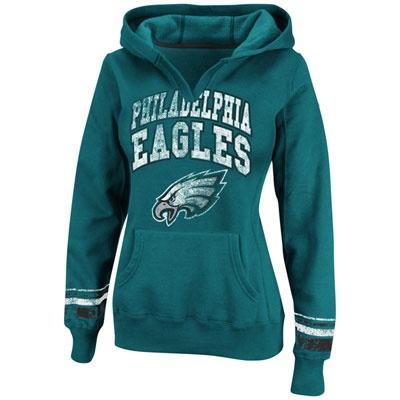 Philadelphia Eagles Green Women's Pre-Season Hooded Sweatshirt