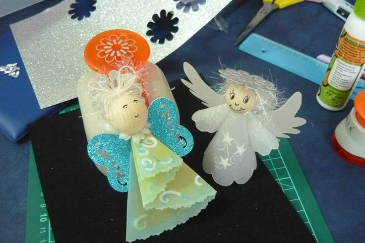 angioletti in pergamena | scrap booking | Pinterest