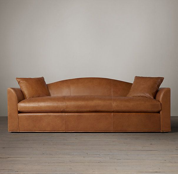 Belgian Camelback Leather Sofas