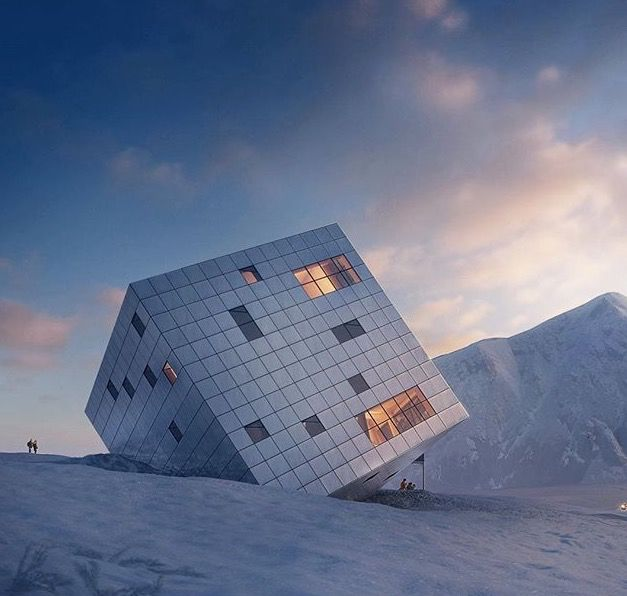 #FantasyFriday, mountain hostel by Atelier8000
