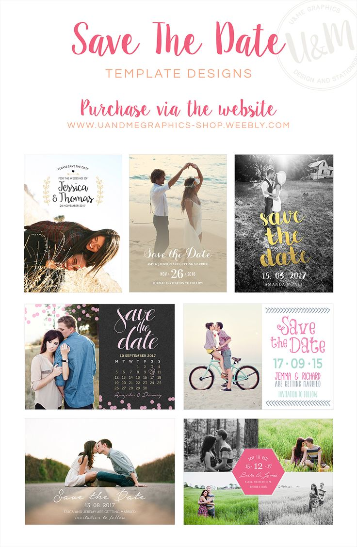 Pretty photo save the date cards, wedding save the date cards, printable save the date cards, designed by u&me graphics