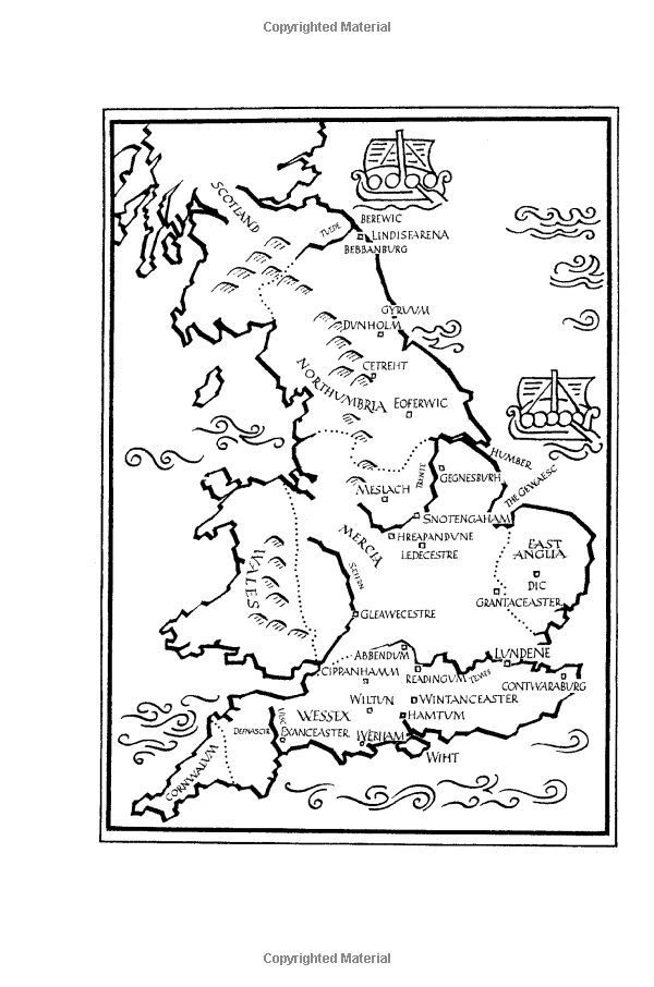 Map Of England The Last Kingdom.The Last Kingdom The Last Kingdom Series Book 1 Amazon Co Uk