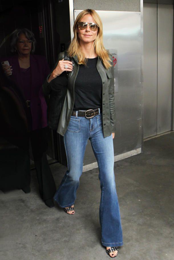 Street Style: Heidi Klum zeigt 70er-Jahre-Trend für Anfänger