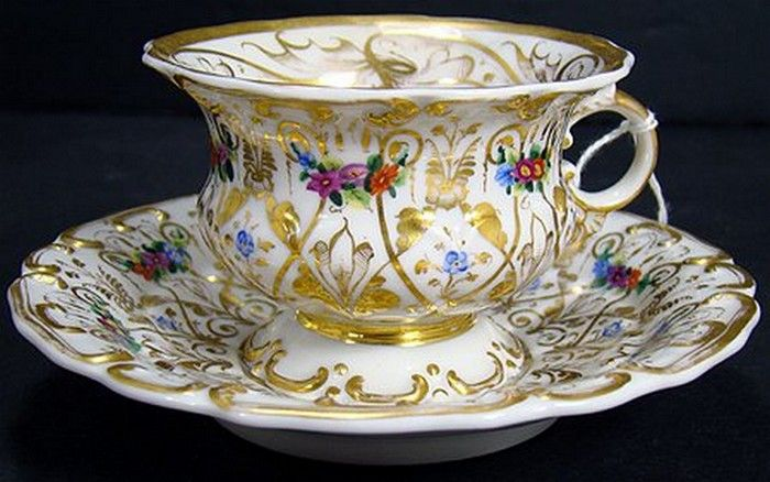 KPM Berlin Porcelain (Germany) —Tea Cup and Saucer   (700x438)