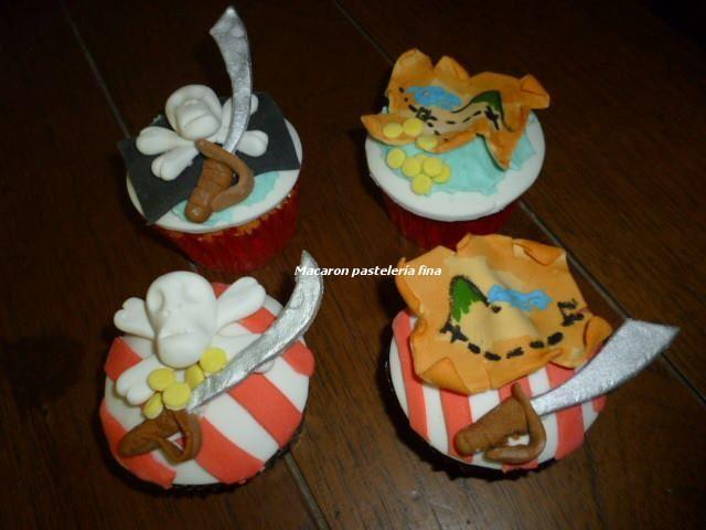 Cupcake piratas.