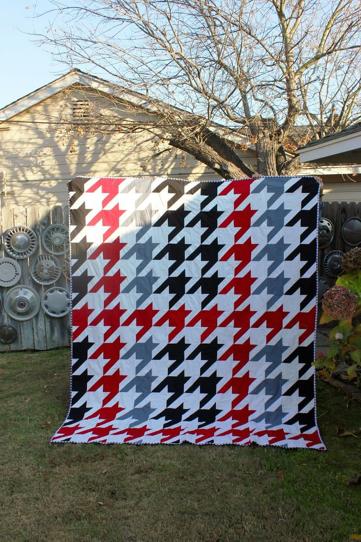 44 best Houndstooth Quilts images on Pinterest | Houndstooth, Easy ... : houndstooth quilt pattern - Adamdwight.com