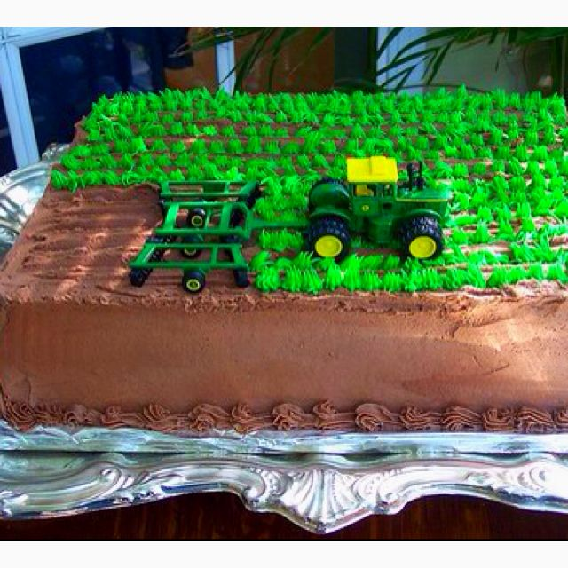John Deere cake.  This would have to be a Case...:). Cute idea