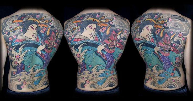 H F Tattoo Hefrem e Frida Tattoo | Gallery Hefrem  Asian style - Japanese Geisha