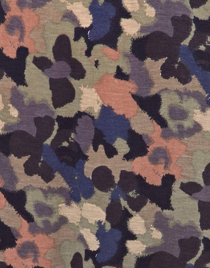 textile, mode : ASOS, motif camouflage ou floral, taches