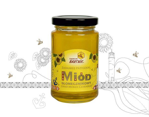 Sunflower Honey from Black Sea, Ukraine.    Sądecki Bartnik www.bartnik.pl