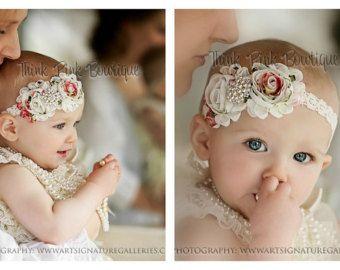 Diadema Floral y grueso collar cordón por PrincessBeadsandBows