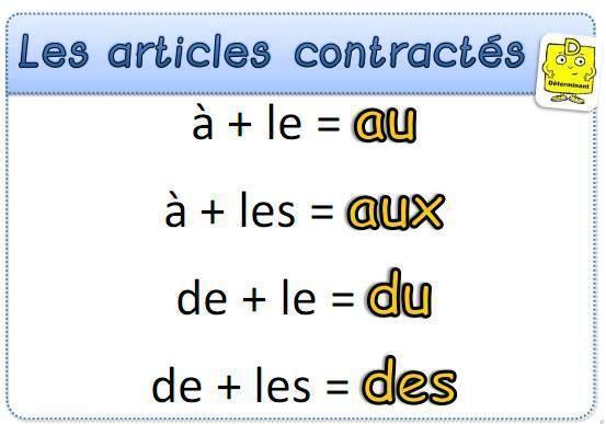 FLE- Articles contractés