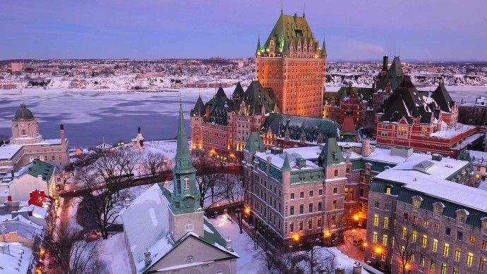 Quebec City - Chateau Frontenac. Top 5 Honeymoon Ideas in Canada.