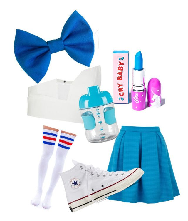 """""""Cry baby Melanie Martinez"""" by babyvogevore on Polyvore featuring Lime Crime, Narciso Rodriguez, Yumi, Leg Avenue, Converse and OXO"""