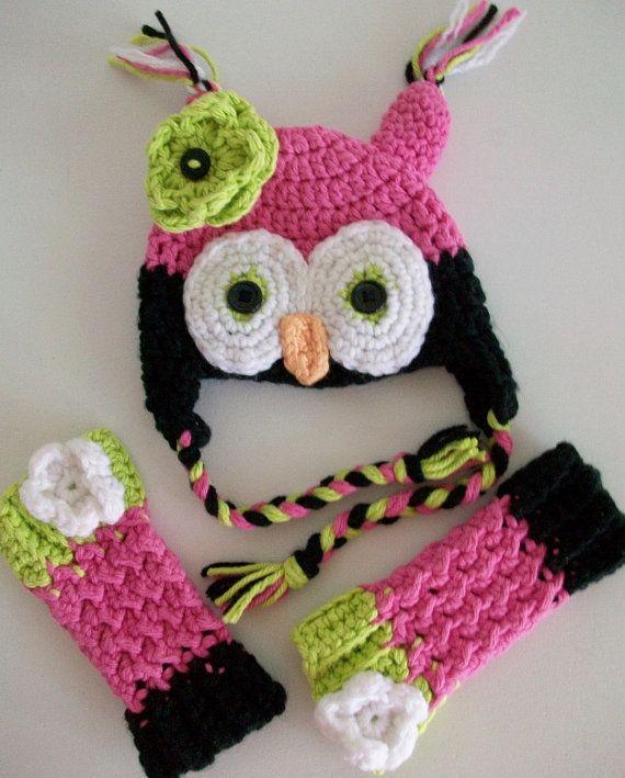 Pink Owl Costume Set New Born Girl Baby Photo Prop Pink Crochet Owl by BlueStockinette #TrendingEtsy