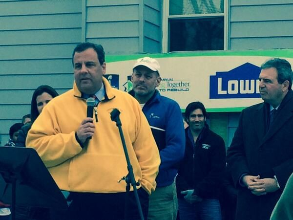 """""""We're not going to stop until every person's life gets back to normal."""" New Jersey Governor Chris Christie at Rebuilding Together's 19th annual Super Bowl-sanctioned event  Kickoff to Rebuild."""