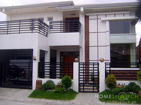 Modern home real homes for inspiration pinterest for Front house design philippines