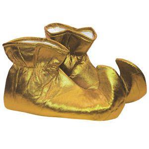 Elf calza el traje de la Navidad del paño del oro El ayudante de Santa Genie el príncipe de hadas calza